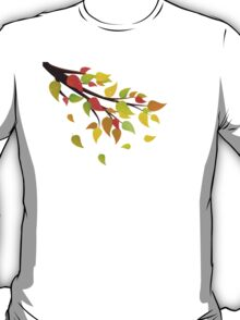 Fall Leaves on Branch 2 T-Shirt