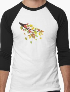 Fall Leaves on Branch 2 Men's Baseball ¾ T-Shirt