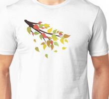 Fall Leaves on Branch 2 Unisex T-Shirt