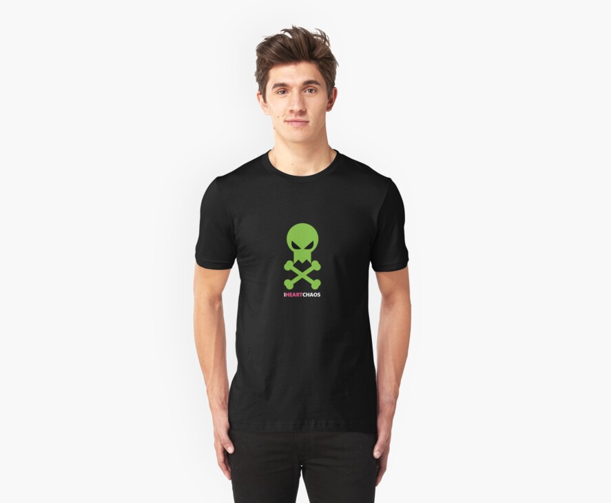 I Heart Chaos Skull Tee by iheartchaos