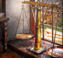 Lawyer - Scales of Justice Sticker