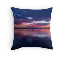Mirror Blue Throw Pillow