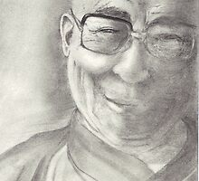 Dalai Lama by conniecrayon