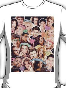glee cast collage T-Shirt
