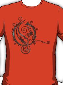 LATTICE LETTER O - the sea T-Shirt