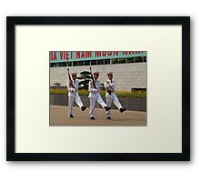 Changing Guard at the Mausoleum of Ho Chi Minh, Hanoi Framed Print