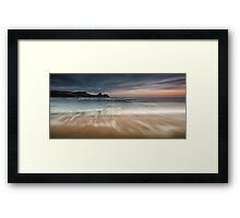 Sunset at Three Cliffs Bay Gower Framed Print