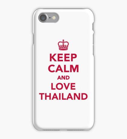 Keep calm and love Thailand iPhone Case/Skin