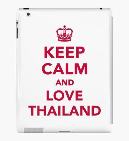 Keep calm and love Thailand iPad Case/Skin