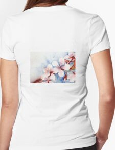 Prunus Blossom Womens Fitted T-Shirt