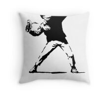 Shoe Thrower Throw Pillow