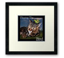 Flipping The Bird Framed Print