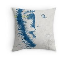 face erode Throw Pillow