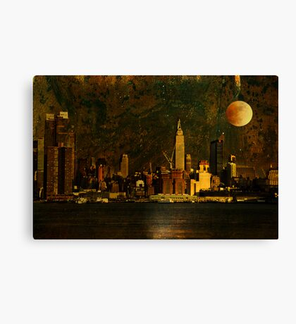 And the Stars Fell One-by-One Canvas Print