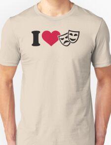 I love theater masks Unisex T-Shirt