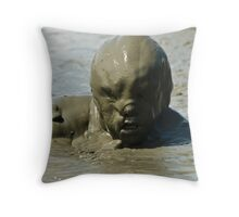 Monster from Muddy Waters Throw Pillow