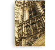 Houses of Parliament Stonework Canvas Print