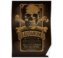 Laudanum Medical Goth Steampunk Label Poster