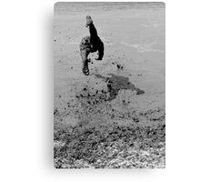 Mud Diving Canvas Print