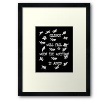Doctor Who - Silence Will Fall When the Question is Asked Framed Print