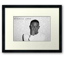 Kendrick Lamar Discography Framed Print