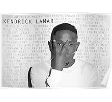 Kendrick Lamar Discography Poster