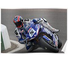 Karl Harris on his Yamaha YZF R1, 2008 BSB Poster