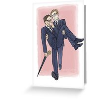 Eggsy&Harry Greeting Card