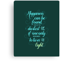 Harry Potter - Dumbledore Quote  Canvas Print