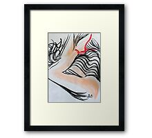 Abstract Charcoal Nude 4 Framed Print