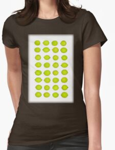 Green limes in rows Womens Fitted T-Shirt