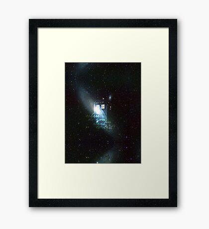 doctor who - tardis & galaxy Framed Print