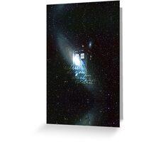 doctor who - tardis & galaxy Greeting Card