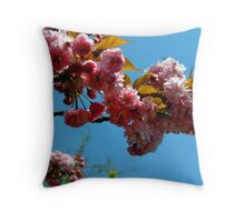 Ornamental Cherry Blossoms Throw Pillow