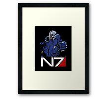 Mass Effect - Garrus Vakarian N7 Symbol Framed Print