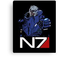 Mass Effect - Garrus Vakarian N7 Symbol Canvas Print