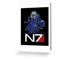 Mass Effect - Garrus Vakarian N7 Symbol Greeting Card