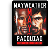Floyd Mayweather VS Manny Pacquiao shirt, poster, and more Canvas Print