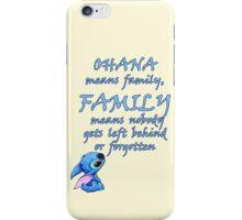 Lilo & Stitch - Ohana Family Quote iPhone Case/Skin
