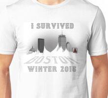 I Survived Boston Winter 2015 (White) Unisex T-Shirt