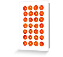 Tomato in rows Greeting Card