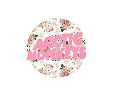 arctic monkeys flower logo (pink) Photographic Print