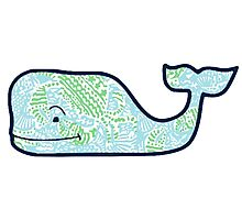 Vineyard Vines Whale Lilly Print 4 Photographic Print