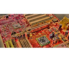 Motherboard HDR Photographic Print