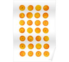 Oranges in rows Poster
