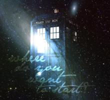 doctor who - tardis & galaxy Sticker
