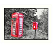 Phone & LetterBox HDR Art Print