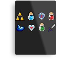 Zelda Items Metal Print