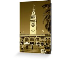 Tower clock Greeting Card