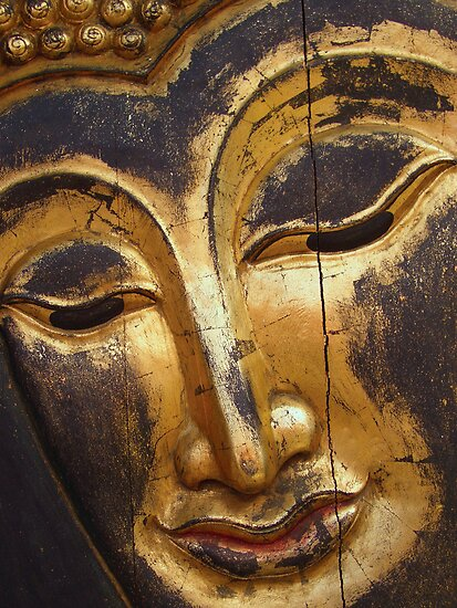 The face of buddha by Ian  Wade